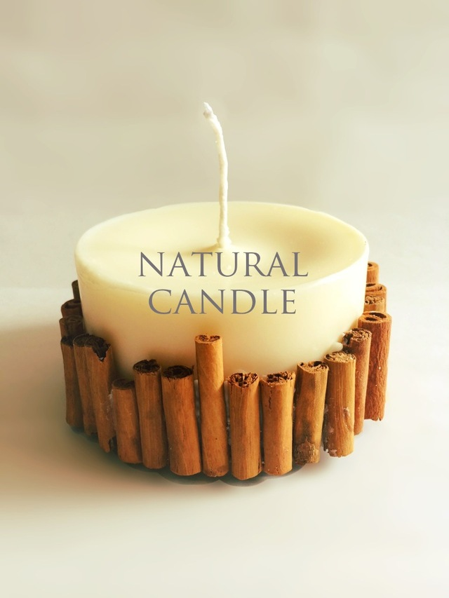 natural soy candle ーシナモンー M