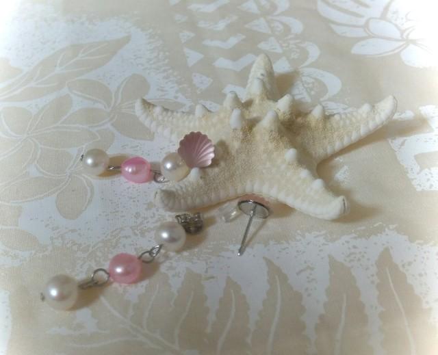 2way Tiny tiny Shellピアス(Pink)