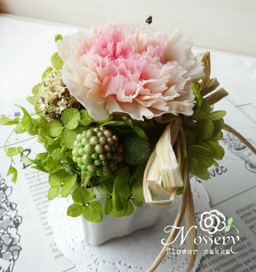 カーネーションアレンジ・fluffy pink(P055)