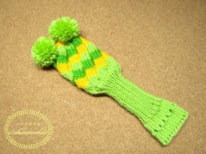 エストニアスパイラルの手編みヘッドカバー