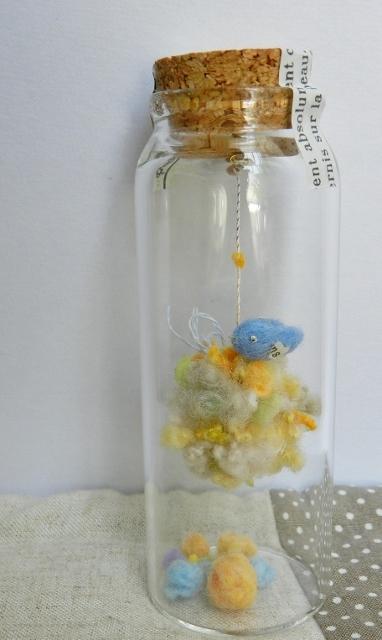 しあわせの青い鳥ボトル-L 夢色の雲に乗って♪