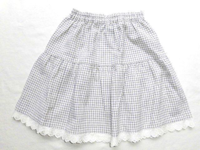 子供用ティアードスカート・110〜120/線チェック【wear2】