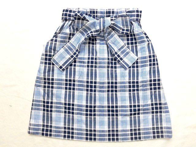 子供用スカート・110〜120/青チェック【wear3】