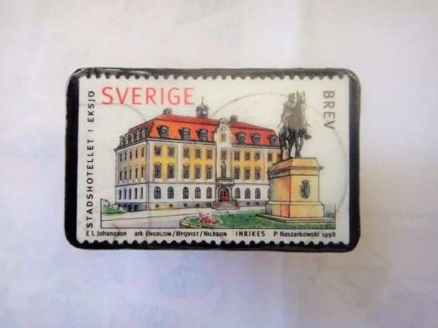 スウエーデン 切手ブローチ1325