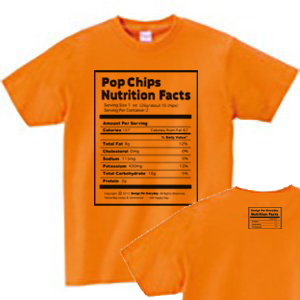 Nutrition Facts(栄養成分表) WS〜WL?S〜XL Tシャツ【受注生産品】