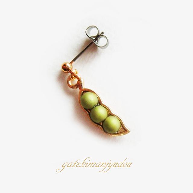 【M様ご予約品】小さなパール枝豆のチタンピアス