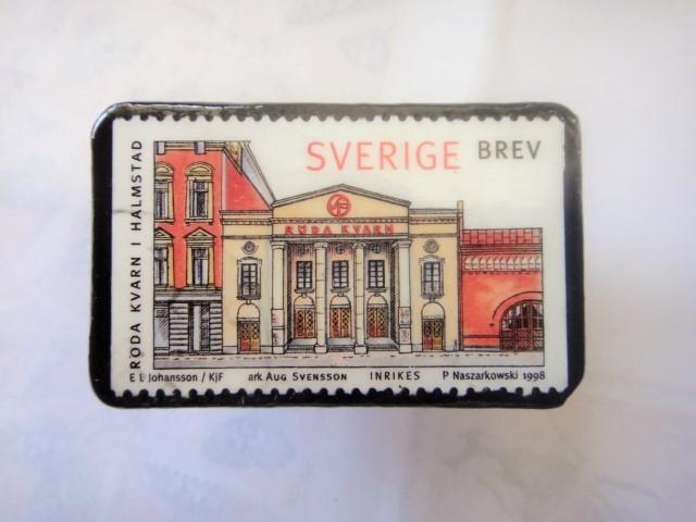 スウエーデン 切手ブローチ1326