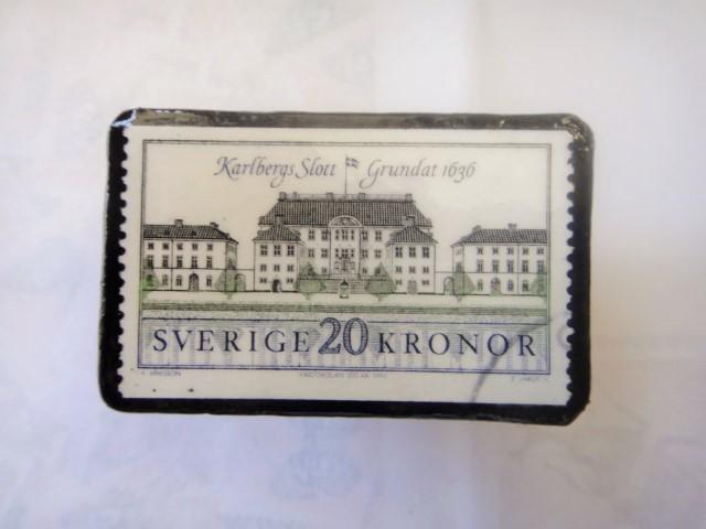 スウエーデン 切手ブローチ1329