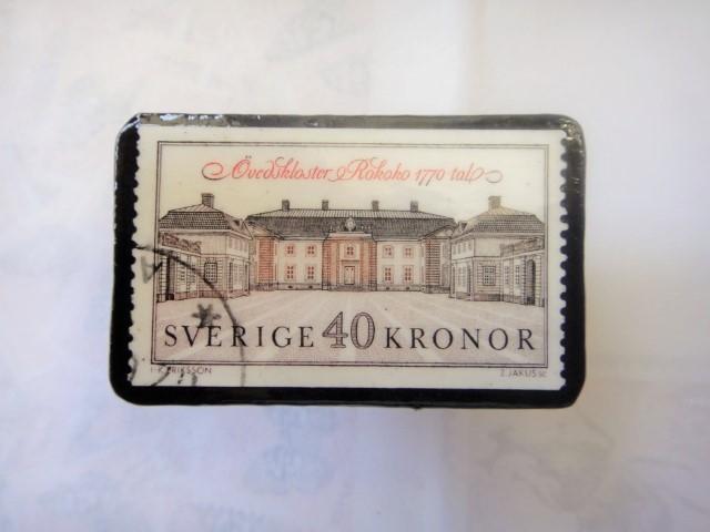 スウエーデン 切手ブローチ1330