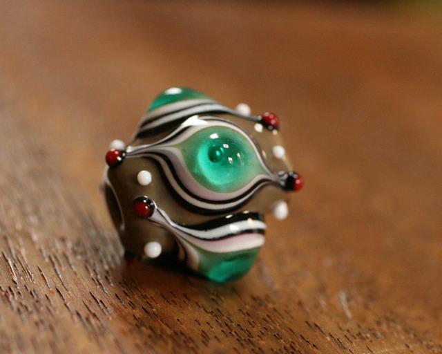 glass beads(とんぼ玉)ブルー眼玉/グ...