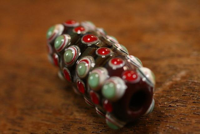 glass beads(とんぼ玉)点打沢山