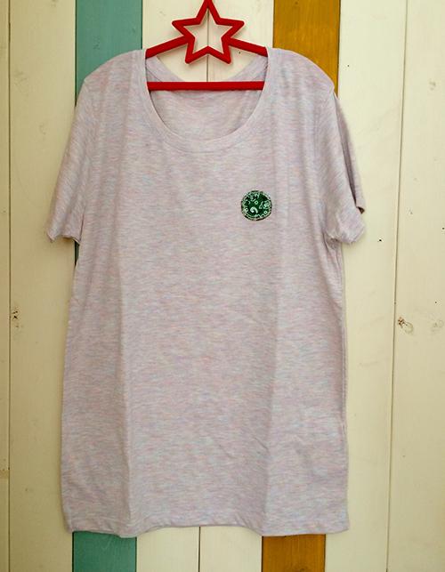 片胸バンダナスマイルTシャツ(グリーン)