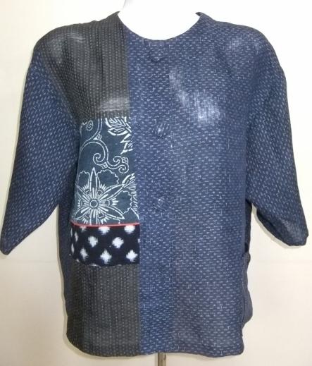 着物リメイク 麻の上布で作ったシャツ 1650