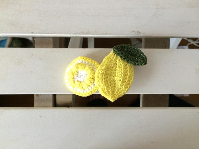 夏のヘアクリップ(檸檬)