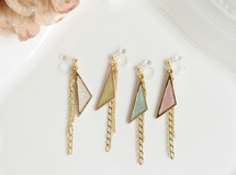 pastel triangle earring