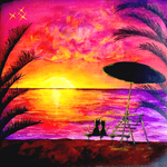 Sunset Love(原画の1点もの)(SOLD OUT)