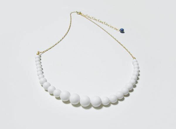 (再販)マットホワイトパールのネックレス
