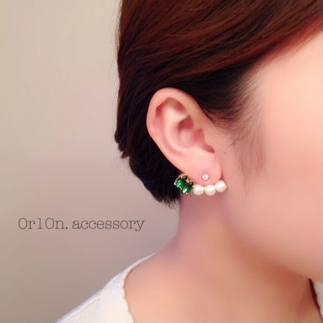 pierce&bijou charm(ダークモスグリーン)