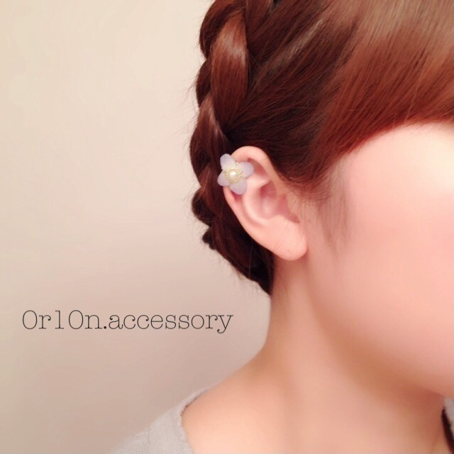 flower earcuff.【no/1】
