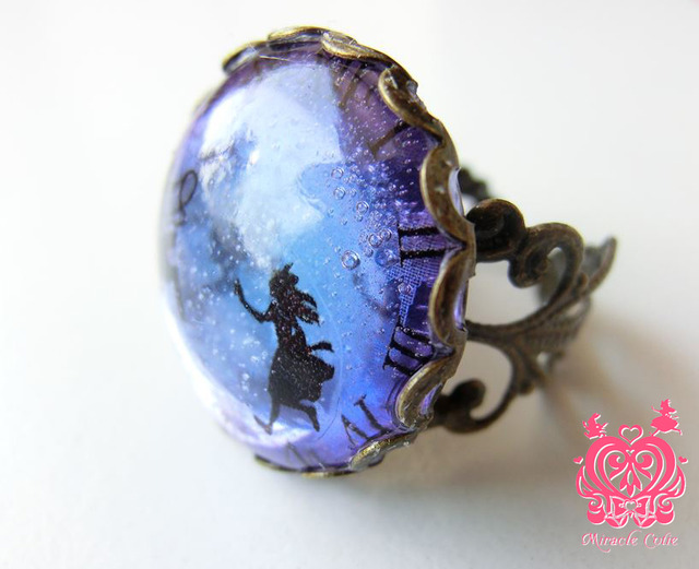 アリスの指輪(ブルーパープルグラデーション)