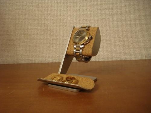 腕時計スタンド 彼氏へのプレゼントに!半円トレイ付き腕時計スタンド