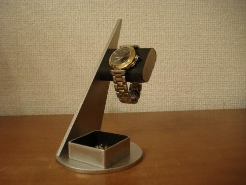 ウォッチスタンド シャープなデザイントレイ付きだ円腕時計スタンド