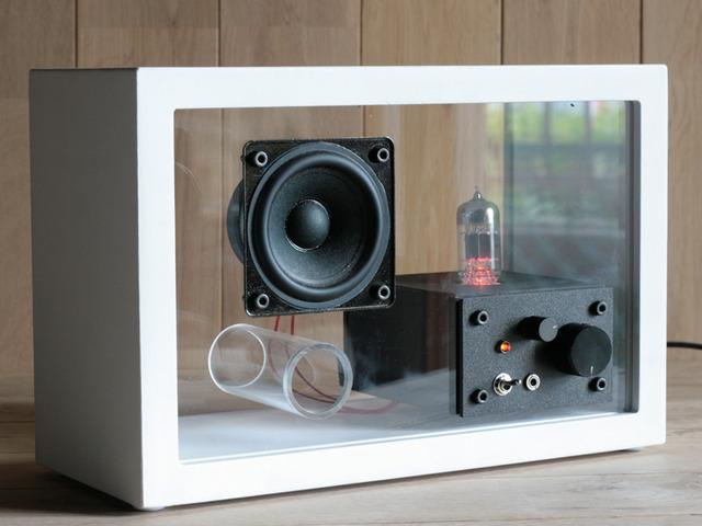 acrylic speaker [真空管アンプ内蔵]