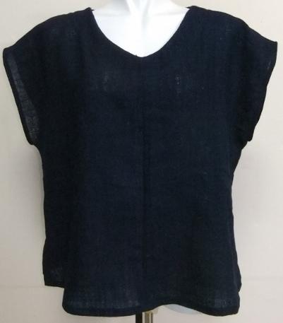 着物リメイク 藍染の湯上りで作ったシャツ 1653