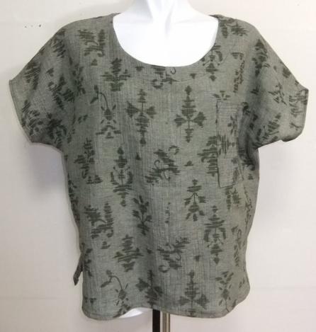着物リメイク 綿の着物で作ったTシャツ 1654