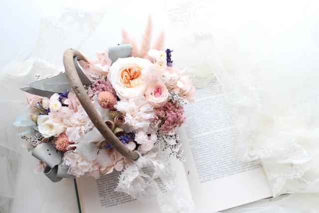 flower basket #102 [フラワーギフト・リングピローなどに・・]