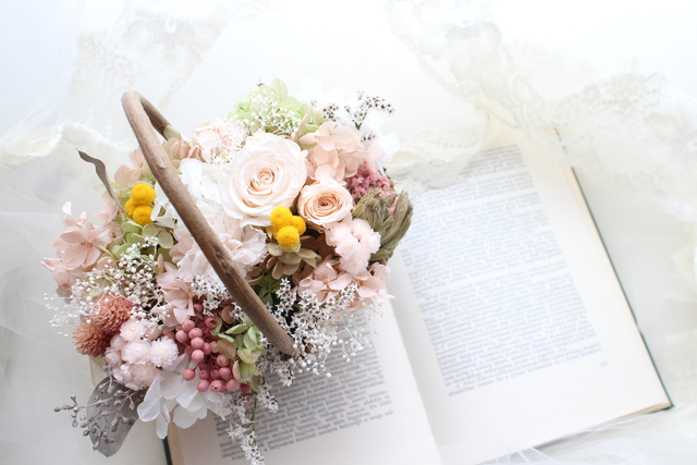 flower basket #101 [フラワーギフト・リングピローなどに・・]