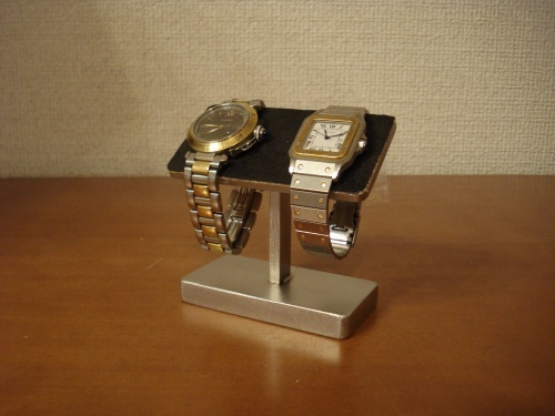 腕時計スタンド ブラック2本掛け機能的腕時計スタンド スタンダード