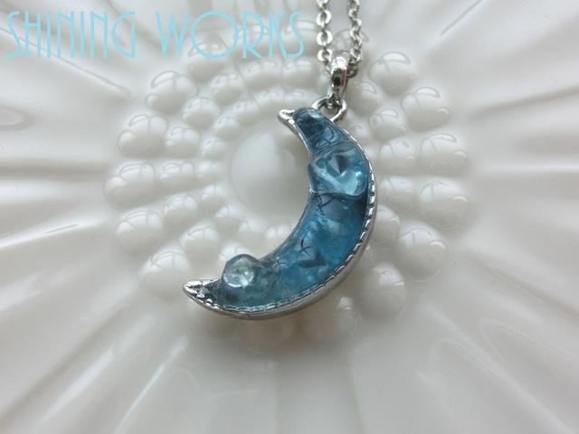 ブルームーン~青い月〜ネックレス(再...販)