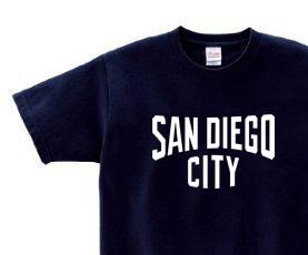 サンディエゴ CITY  150.160.(女性M.L) S〜XL Tシャツ【受注生産品】
