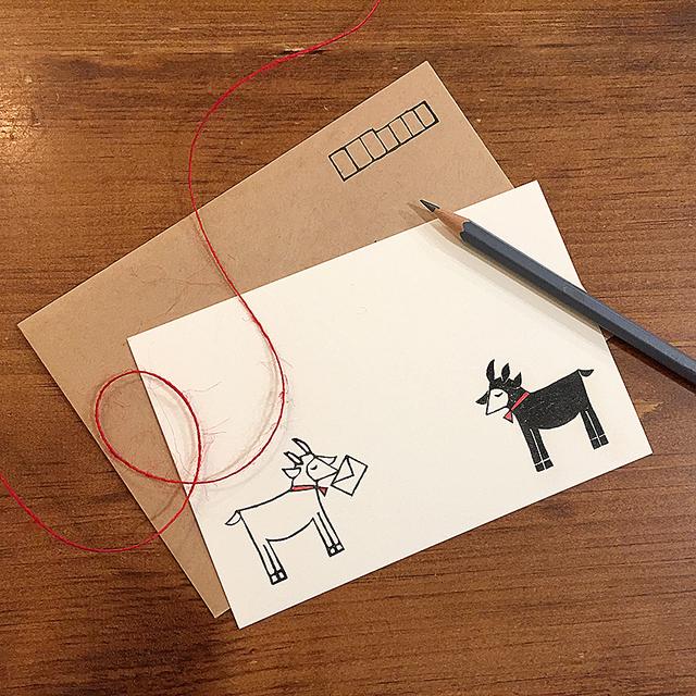 ヤギさん郵便 ポストカード&封筒3セット