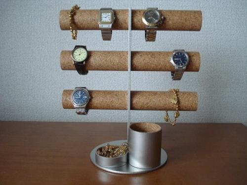 腕時計スタンド 12本掛け腕時計収納タワー&小物入れ、ペンスタンド総合ディスプレイ