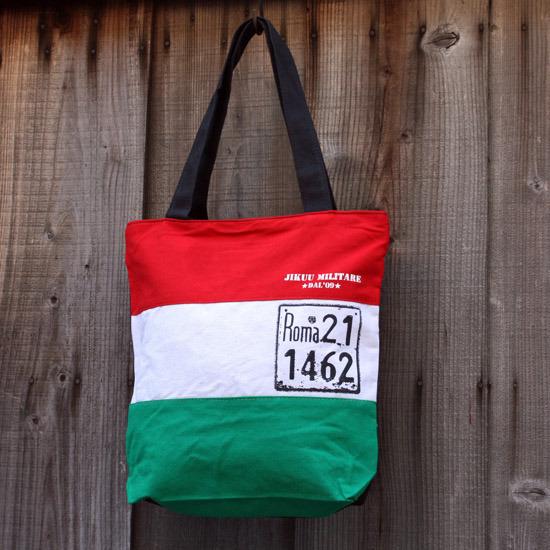 【JIKUU】 イタリアントリコトートバッグ『ローマプレート』