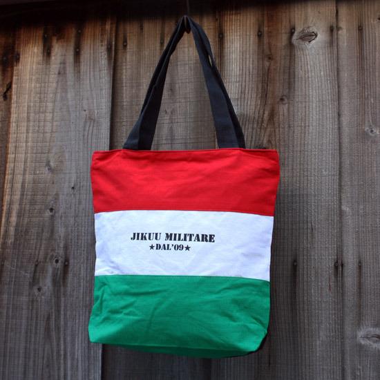 【JIKUU】 イタリアントリコトートバッグ『ミリタリーロゴ』