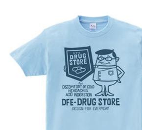 ドラッグ&薬剤師★アメリカンレトロ 【片面】WS〜WM?S〜XL Tシャツ【受注生産品】