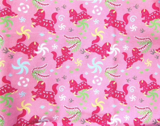 オリジナルファブリック「馬」ピンク