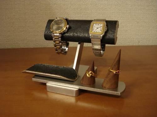 8月10日、11日のみ13900円を12900円の1000円引き!!限定3台(受注生産) ブラック腕時計&リングスタンド