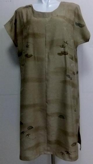 着物リメイク 訪問着で作ったワンピース 1665