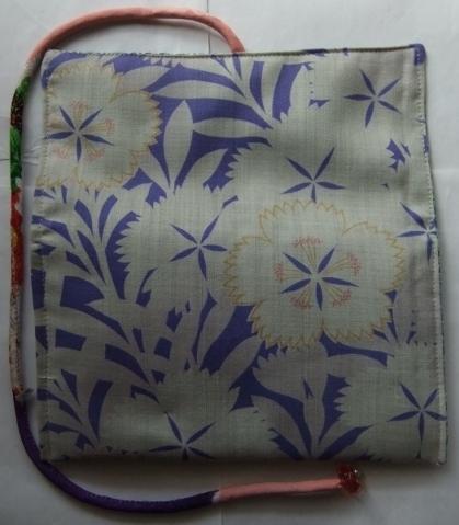 着物リメイク 花柄の長襦袢で作った和風財布 1667