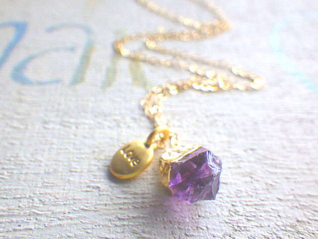 Love with Amethyst *14kgf*