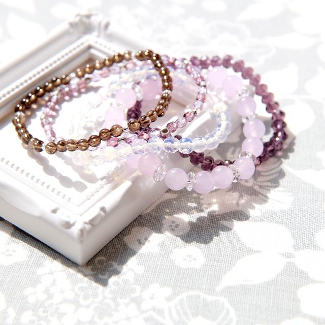 ハンサムパープル(紫の5連ブレスレット