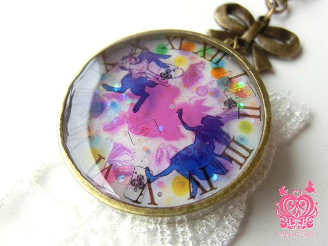 アリスのバッグチャーム レインボードロップ(ピンク&ブルー)