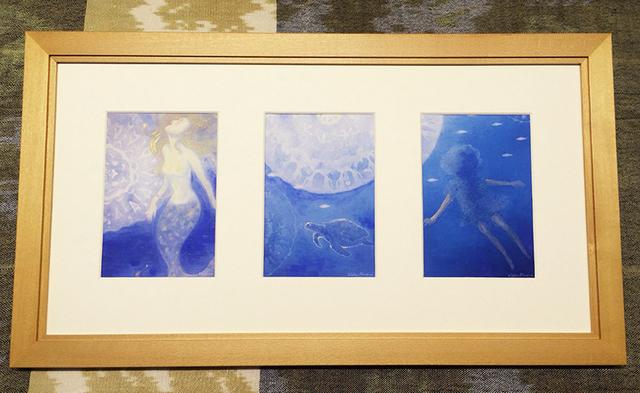 海の中で癒されて・・・3つの窓のフレーム