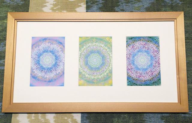 癒しの光絵・・・3つの窓フレーム