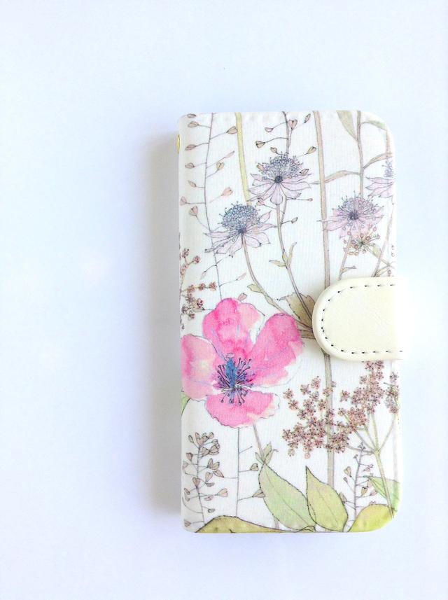 リバティiphone6 6S手帳型ケース イルマ ベビーピンク