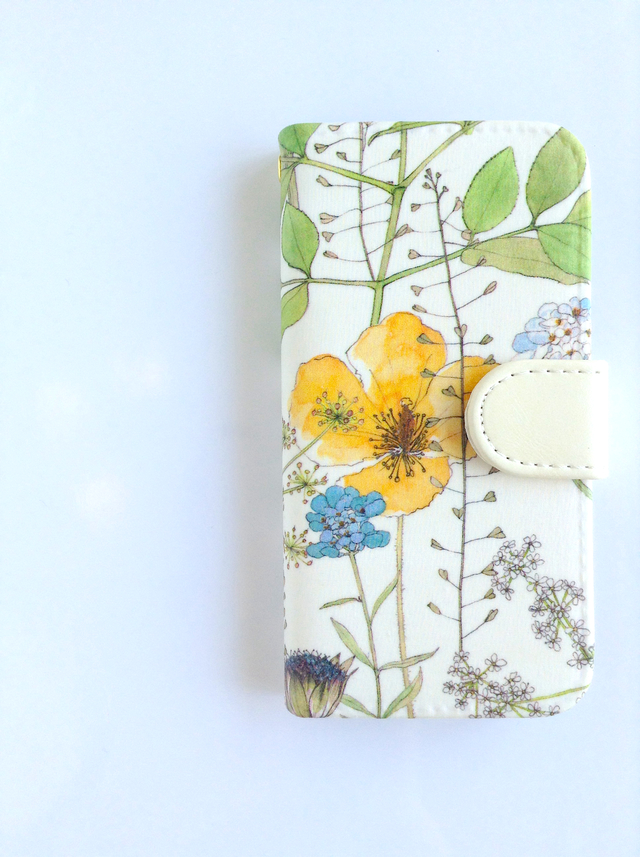 リバティiphone6 6S手帳型ケース イルマイエロー